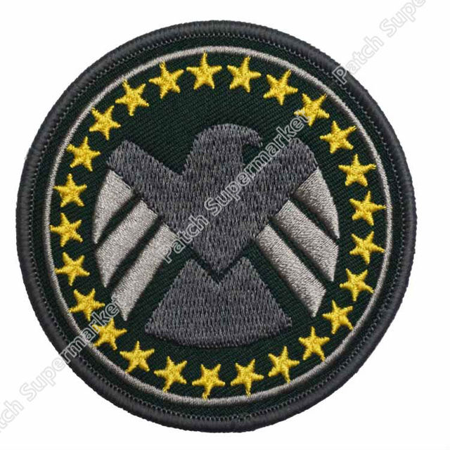 3 Captain America Winter Soldier Embroidered Patch Shield Marvel