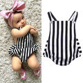 0-24M Newborn Baby Girls Clothes Summer Sleeveless Striped Bodysuit Bebes Body Cotton Playsuit One Pieces
