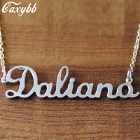 2017 Hot Sale New Collier Collares Large Monogram Necklace Custom Initials 925 Necklaces Personalized Pendant Jewelry Fth-n01