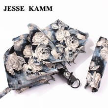 JESSE KAMM Big Strong For Two People Fully Automatic Compact Anti-UV Rain Sunshine Windproof Umbrellas Women Ladies Fashion