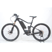 27 5inch Carbon Fiber Ebike Carbon Fiber Full Suspension Soft Tail Carbon Fiber Electric Mountain Bike