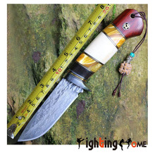 58-59HRC Damascus Fixed Blade characteristics handle Fixed Hunting Knife Collection EDC Hight quality Camping Knife