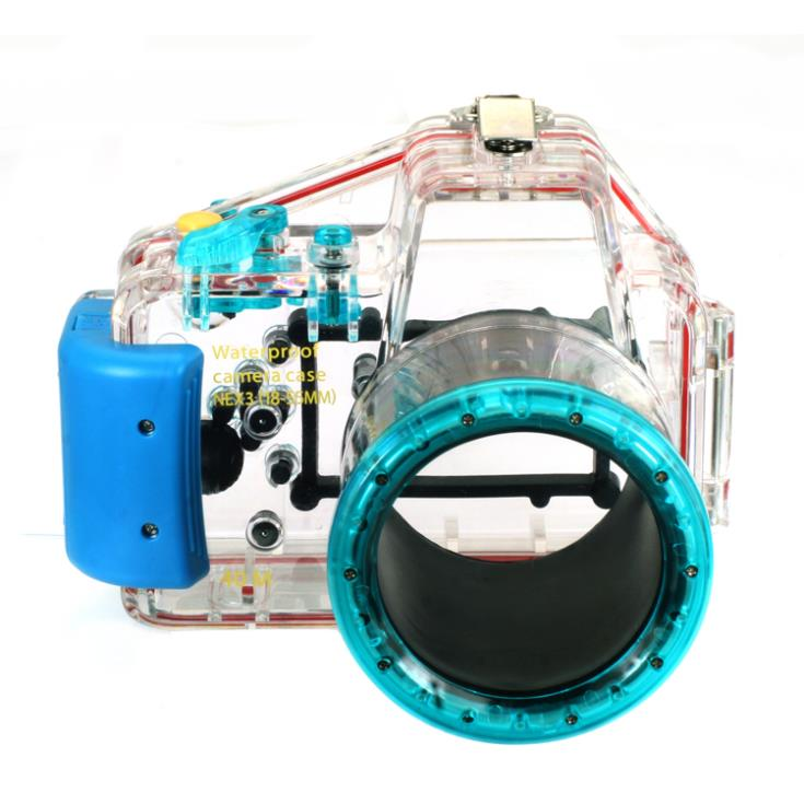 цена Waterproof Underwater Housing Camera Housing Case for Sony Nex 3 nex-3 18-55mm Lens