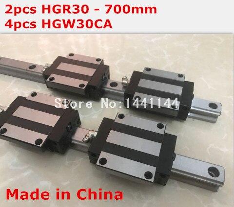 HG linear guide 2pcs HGR30 - 700mm + 4pcs HGW30CA linear block carriage CNC parts салфетки hi gear hg 5585