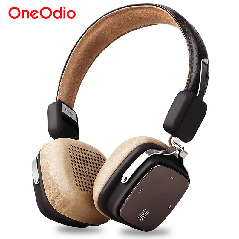 OneOdio Original Elysium Wireless Headphones Bluetooth Foldable Headset With Mic Metal Lightweight Headphone 500mAh Black/ Beige