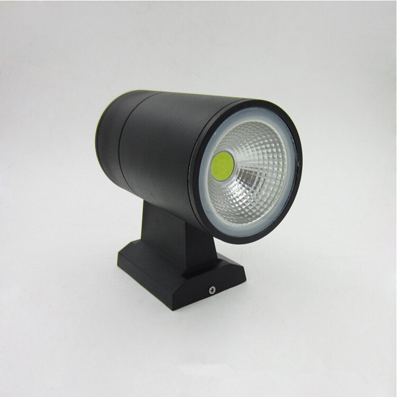 buy Up down contemporary outdoor wall lamp, Bridgelux 10W COB LED wall light IP65 exterior lighting AC110V 220V 230V 240V input pic,image LED lamps deals