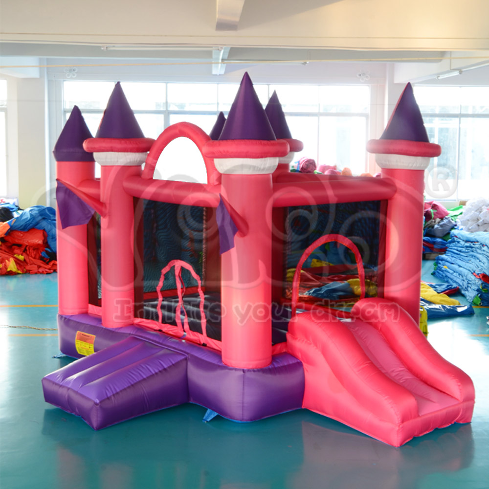 DHL FREE SHIPPING Pink Inflatable Jumping Castle Iinflatable Bouncer Bouncy Castle Jumper  yard dhl free shipping inflatable bouncer bouncy jumper colorful castle with long slide for kids