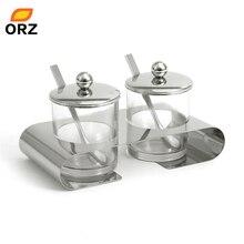 ORZ Glas Transparent Gewürzglas Gewürzkasten Gesetzt Küche Werkzeuge Salz Zucker Gewürz Menage Aufbewahrungsbox Mit Löffel