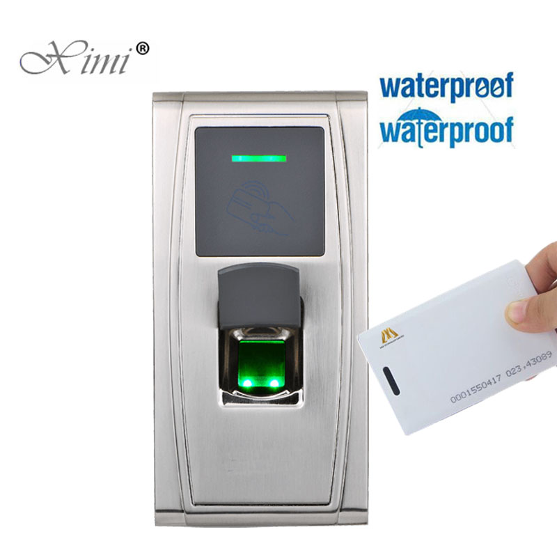 IP65 Waterproof Outdoor Use Fingerprint And 125KHZ RFID Card Access Control Time Attendance ZK MA300 TCP