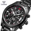 CADISEN Hot Men Watches Top Military Brands Casual Chronograph Fashion Mens WristWatch Quartz Stainless Steel Relogio