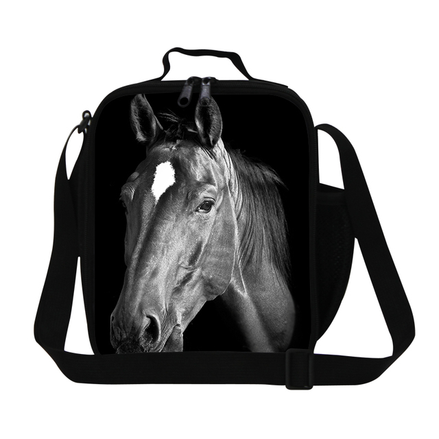 Kids Thermal Lunch Box Animal Lunch Bags Children Horse 3D Print Insulated Meal Package Gifts Multi-function Baby Picnic Bag