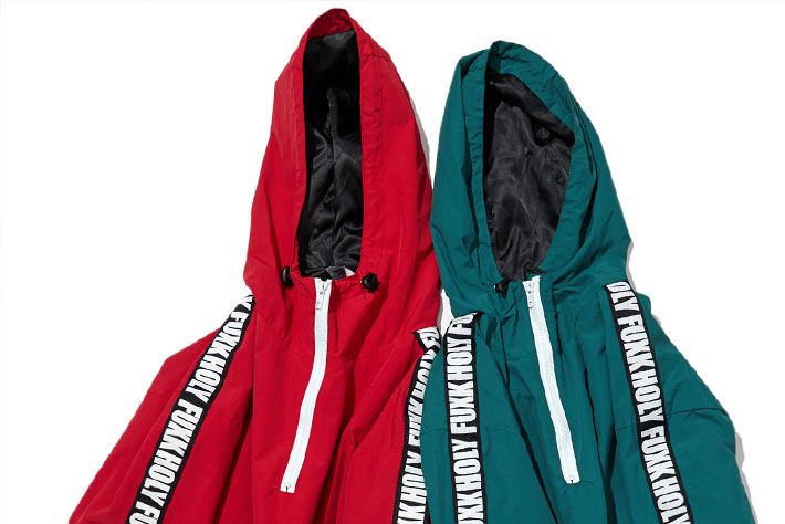 Patchwork Color Block Pullover Hooded Jackets 9