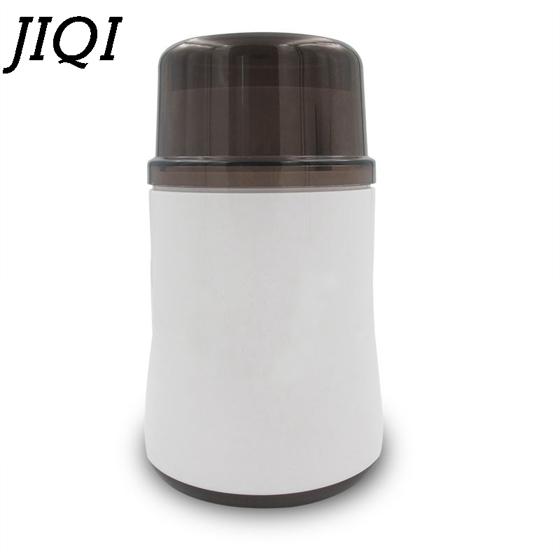 JIQI electric coffee grinder Chinese medicine whole grains Herb Mills grinding machine ultrafine powder Crusher 110V 220V EU US high quality 300g swing type stainless steel electric medicine grinder powder machine ultrafine grinding mill machine