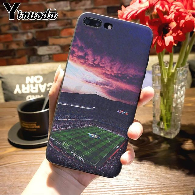 Yinuoda voetbal veld Leuke Telefoon Accessoires Case voor iPhone 7plus 6S 6plus 7 8 8Plus X 5 5S case cover