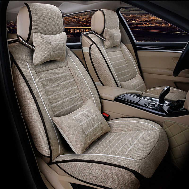 العالمي الكتان غطاء مقعد السيارة لتويوتا كورولا كامري Rav4 أوريس بريوس ياليس أفينسيس SUV اكسسوارات السيارات سيارة العصي