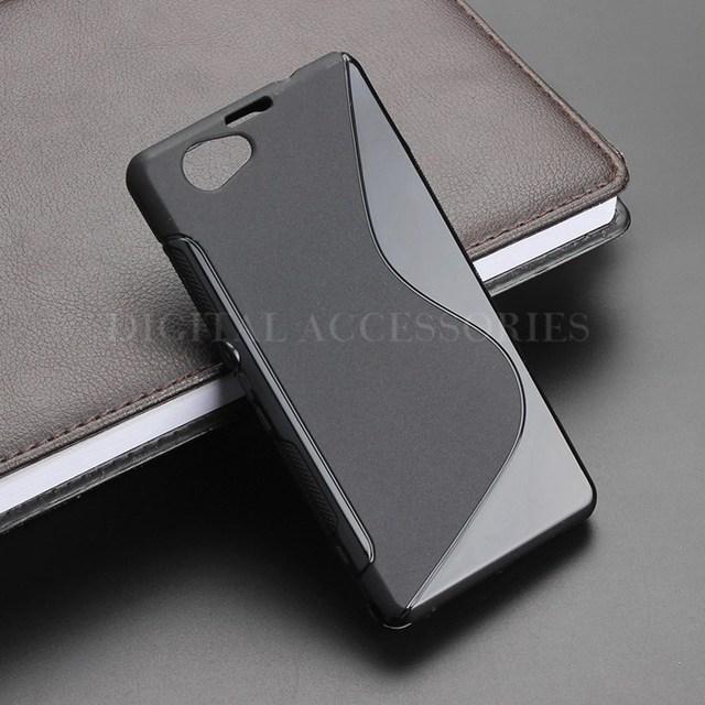 8 cor s-line anti derrapante gel tpu magro soft case de volta capa para sony xperia z1 mini compact d5503 de silicone do telefone móvel casos