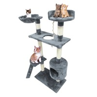 Stylish Cat's Tree Furniture Protector Pets Scratcher Scratching Fun Post Toy Activity Centre Indoor Home Furniture Pet House