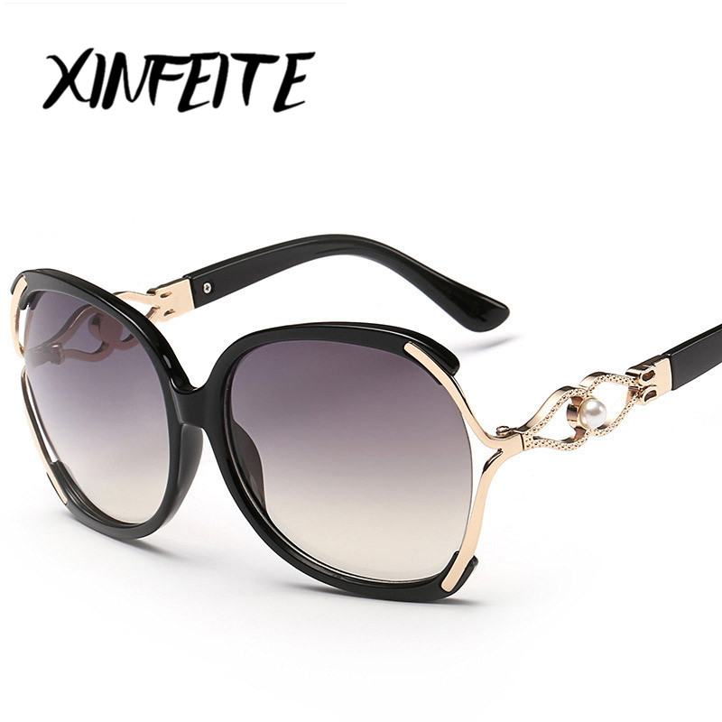 XINFEITE Brand 2018 Hot Sale Casual Women Oversized Sunglasses Vintage Luxury Designer Fashion Eyeglasses Female Sun Glasses