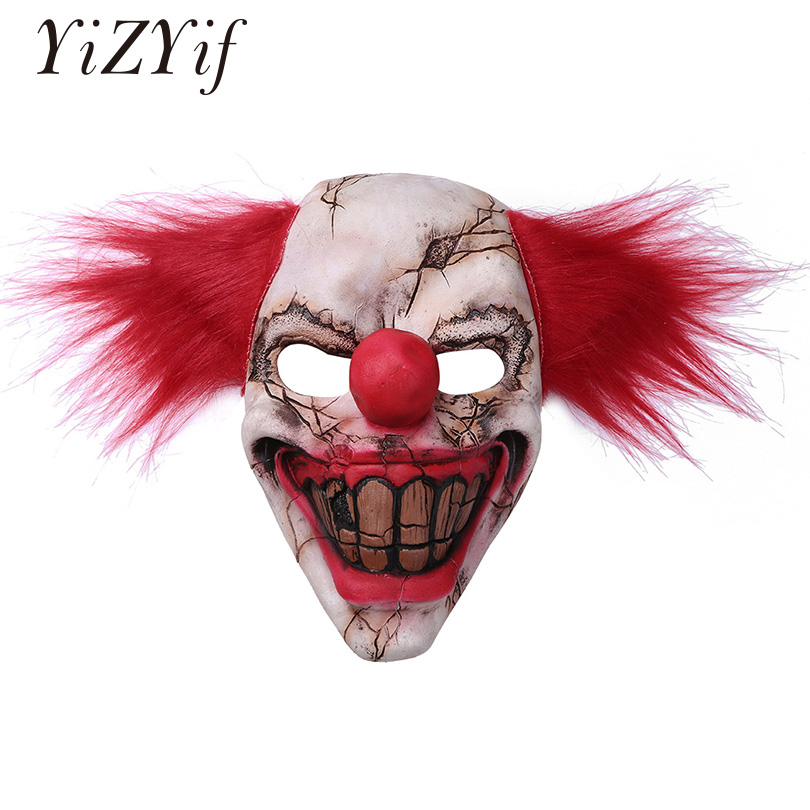 YiZYiF Halloween Strange Latex Horrific Demon Scary Clown Devil Flame Zombie Adult Mask Christmas Bar Dance Party Cosplay Props