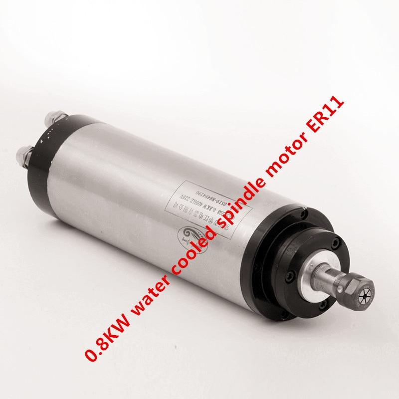 0.8KW water cooled spindle motor ER11 220V 24000rpm 4 bearing 400Hz diameter 65mm Engraving milling grind  цены