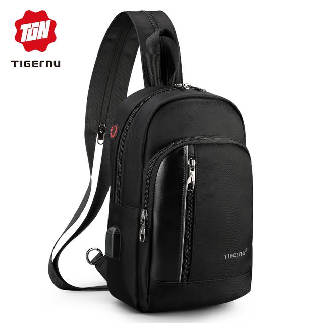 Tigernu High Quality USB Charging 9.7″ iPad  Men Waterproof Crossbody Bag Fashion Casual Messengers Bag For Women Bag Shoulder
