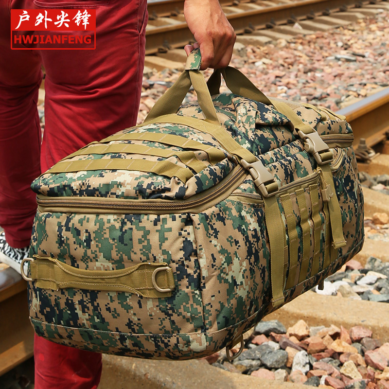 ФОТО Free shipping Advanced Camouflage multifunctional Luggage bag large capacity bag casual unisex backpack Travel bag YCW9339