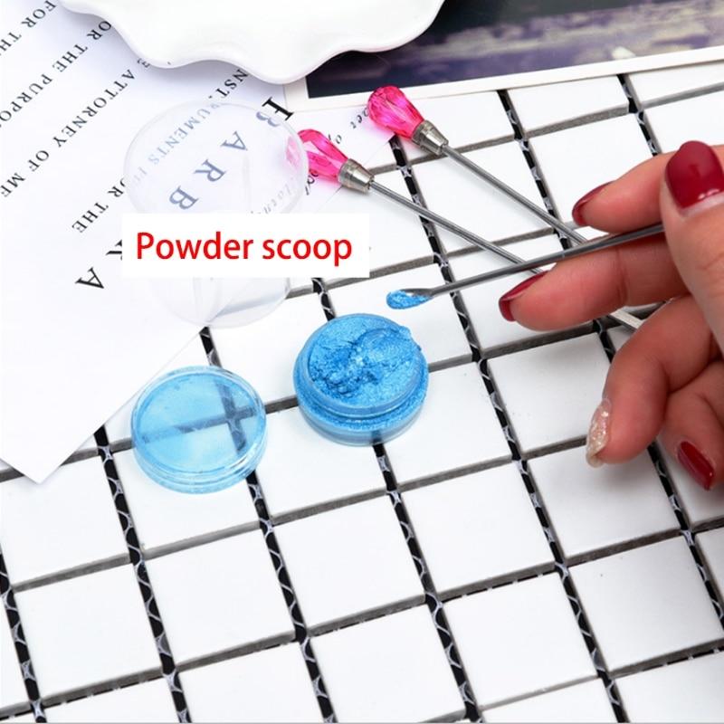 3Pcs Muddler Poke Needle Spoon Tool Set For Silicone Resin Mold Jewelry Making