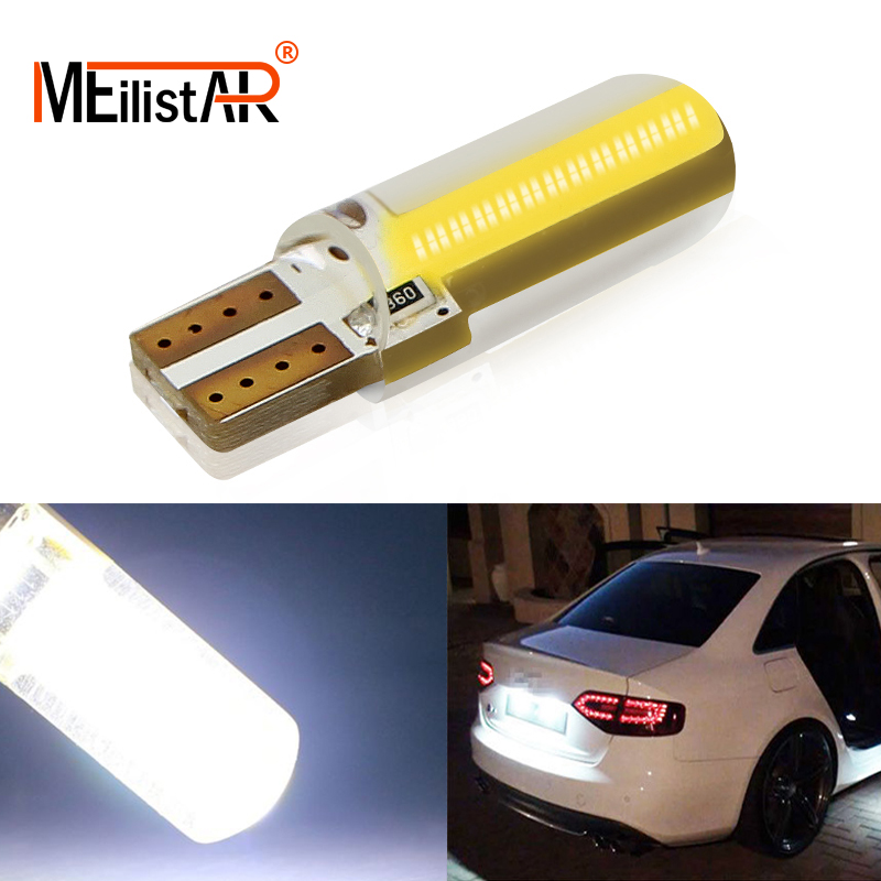 1pcs T10 COB Led Car W5W Light Bulb 12V Interior Light 6000k White Clearance Tail Light License Plate Led Car Styling
