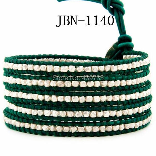 new arrival  fashion green leather bracelet  copper  weaving charm bracelets women bangles for women jewelry JBN-1140