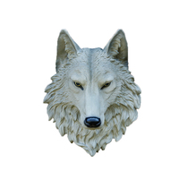 Large Size Wolf Head Wall Decoration Hanging Wall Animal Head Resin Pendant Resin Wall Ornaments Home Accessories Best Gift R225