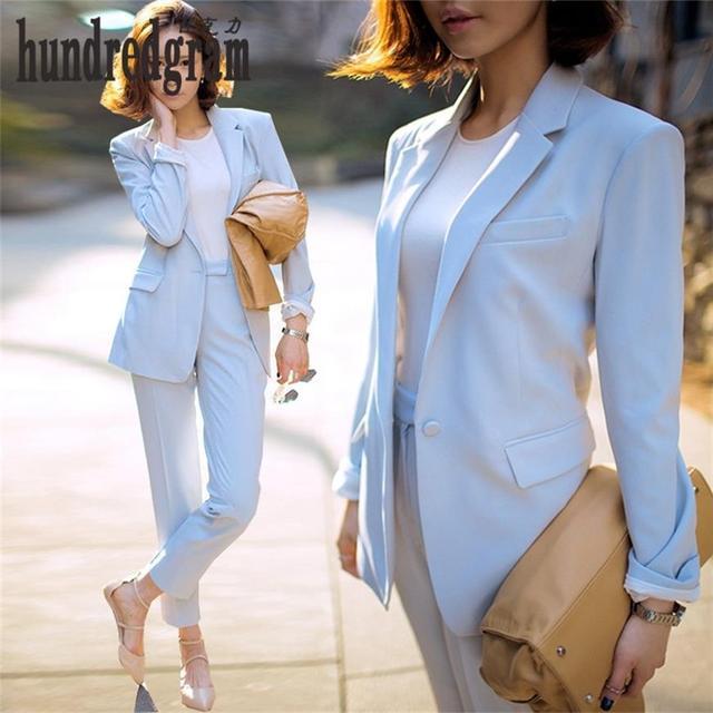 Trajes de mujeres de carrera femenina 2017 la Primavera y el Otoño de manga larga traje chaqueta pantalones casual two-piece-dod380