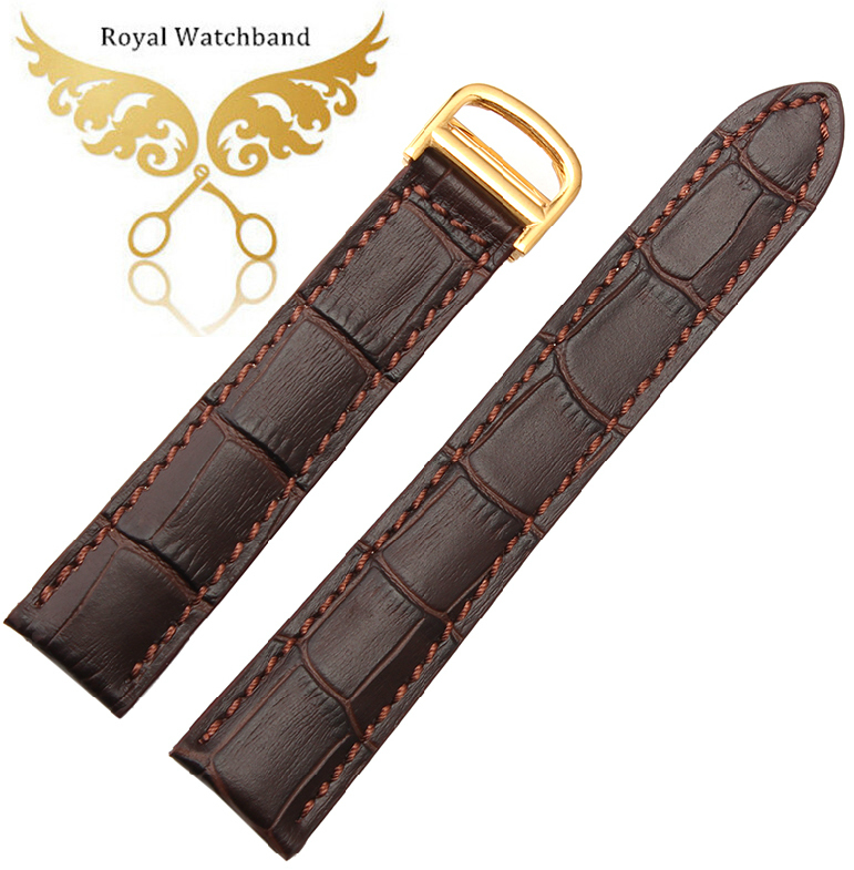 Promotion!20mm New High Quality Rose Gold Stainless Steel Butterfly Buckle Brown Genuine Leather Watch bands Strap Free Shipping genuine guarantee hongkong new cher gold partner 123 suit rose essence page 8