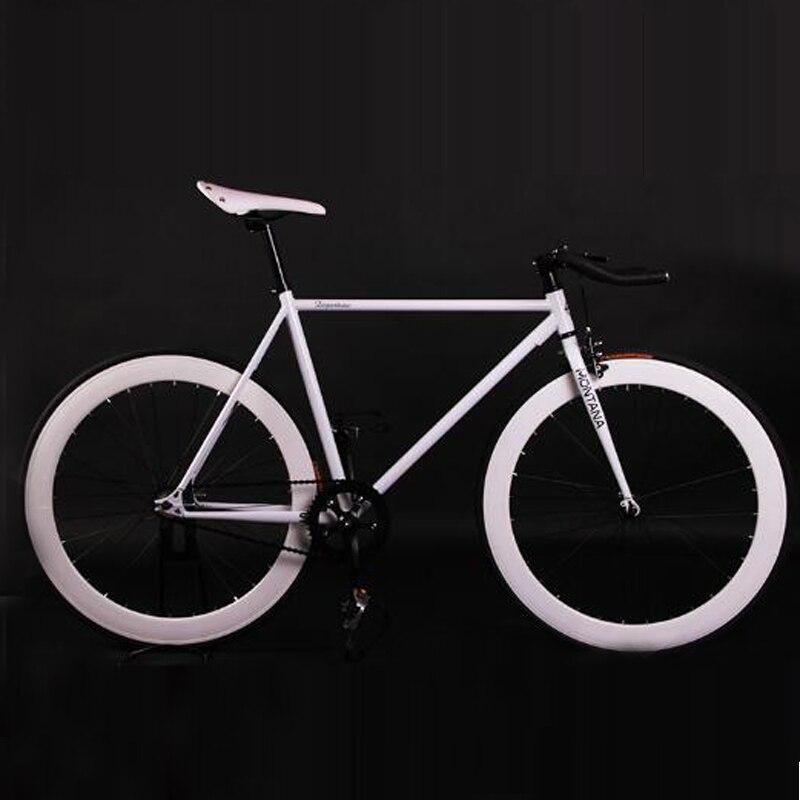Fixed Gear Bike Fixie Bike 52cm Frame DIY Muscular Frame Cycling Road Bike Aluminum Alloy Frame Fixie Bicycle