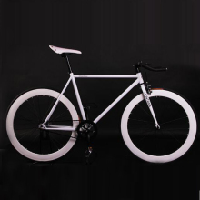 HOT Sale 11.11 Fixed Gear Bike Fixie 52cm Frame DIY Muscular Cycling Road Aluminum Alloy Bicycle