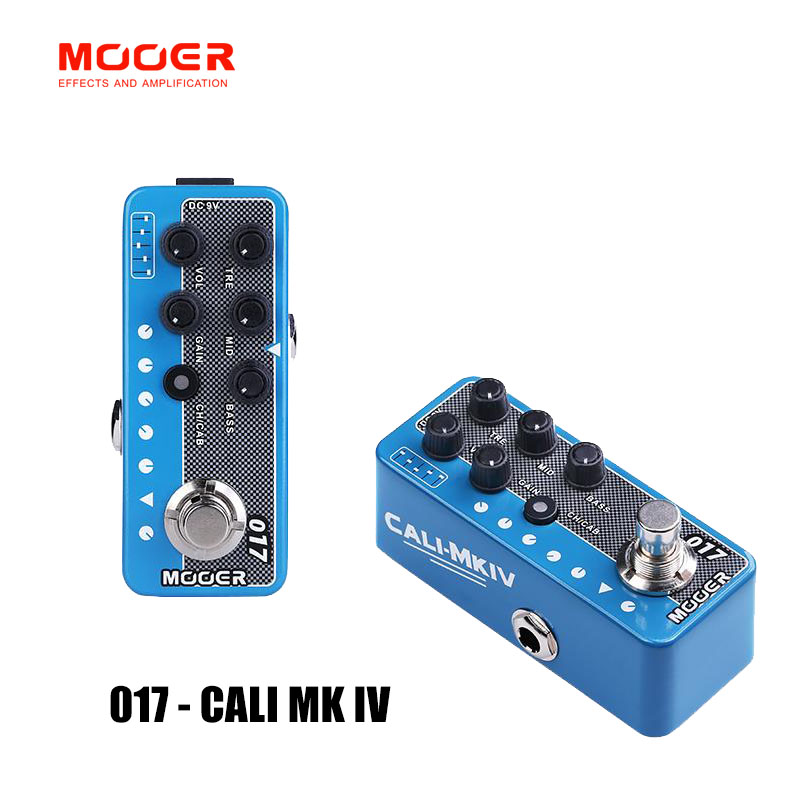 MOOER 017 CALI MK IV guitar pedal High quality dual channel preamp Gain and Volume controls for each channel Independent 3 band MOOER 017 CALI MK IV guitar pedal High quality dual channel preamp Gain and Volume controls for each channel Independent 3 band