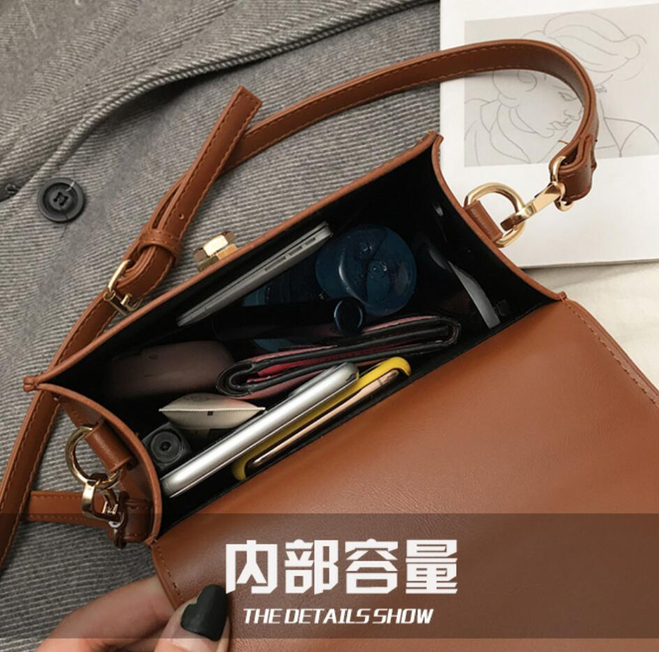 Luxury Handbag Vintage Fashion Female Tote bag 2019 New Quality PU Leather Women's Designer Handbag Lock Shoulder Messenger bags 5