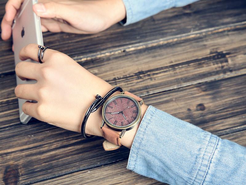 MEIBO Relojes Women Quartz Watches Denim Design Leather Strap Male Casual Wristwatch Relogio Masculino Ladies Watch female watch 8