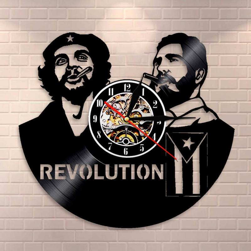 Home & Garden 2018 Klok Saat Clock Wall Free Shipping Music Wall Clock Vinyl Retro Nostalgia Che Guevara Cut & Middot; Ernesto De La Serna Wall Clocks