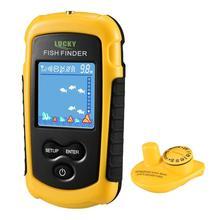 Sıcak satış şanslı FFCW1108 1 renkli ekran kablosuz balık bulucu Alarm 40M/130FT derinlik yankı iskandil balık bulucu balıkçılık cazibesi