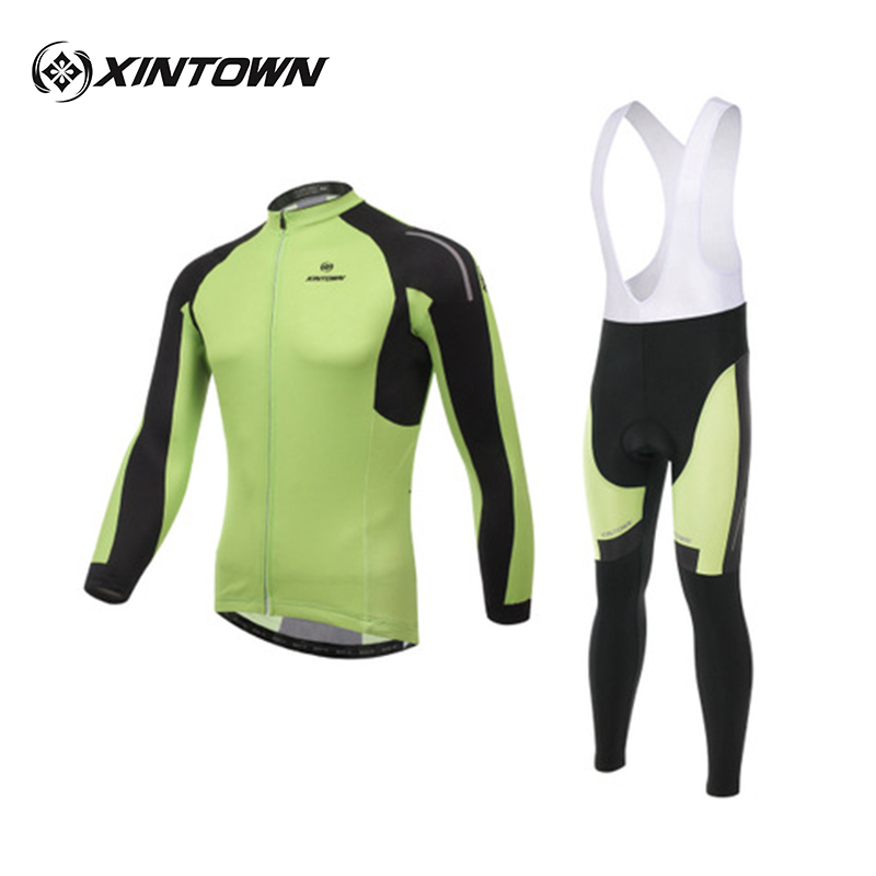 XINTOWN Green Riding Long Suit Cycling Wear Age Season Quick-drying Moisture Absorption Perspiration