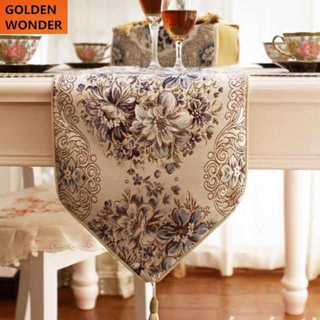 European Modern Luxury Embroider Bed Flag Table Runner Table Runners  Tablecloth Runner Coffee Dining Table Runner