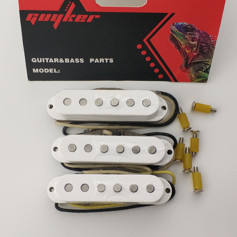 Vintage single plus Electric guitar pickups three single white aluminum nickel cobalt single coil pickups