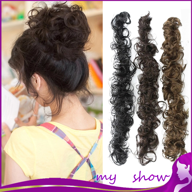 7 Colors Curly Hair Bun Chignons Women\u002639;s Styling Tools