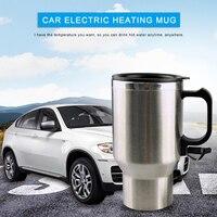 450ml copo elétrico do carro automático de aço inoxidável vácuo garrafa térmica caneca 12 v cigarro do carro mais leve copo aquecimento automático viagem