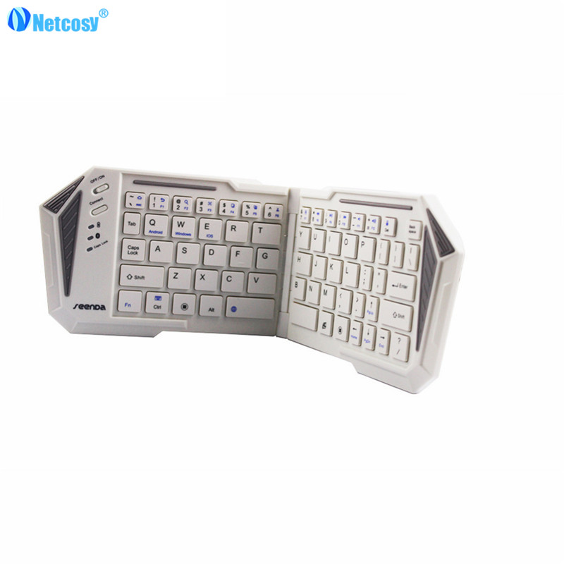 Netcosy Folder Bluetooth Wireless Keyboard For iOS Android Window system support PC / tablet / phone keyboard sp wireless bluetooth keyboard tablet pc for sony svt11115fls svt11211clb svt11215clw spanish latin tablet keyboard