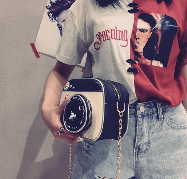 2019 girl vintage fashion lady camera shoulder bag women handbag chain messenger female crossbody bag 3