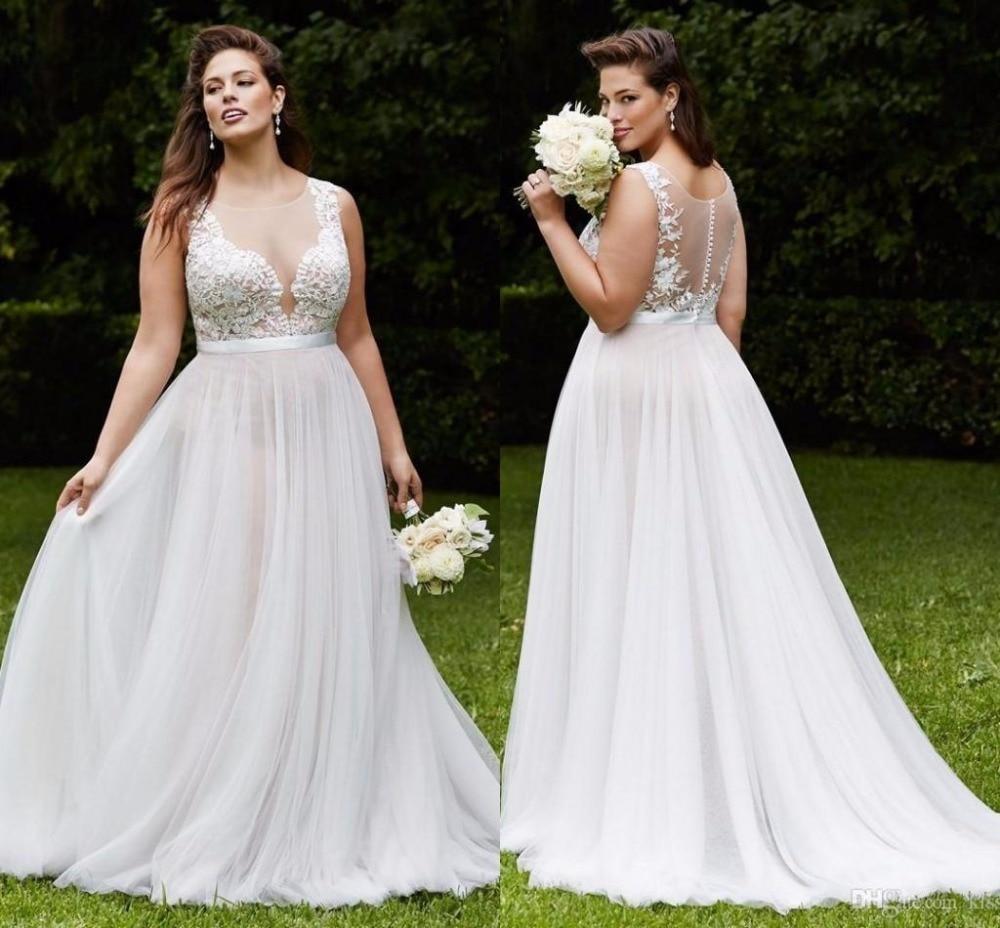 Plus Size Wedding Dresses: Plus Size Bohemian Wedding Dresses 2017 Chiffon Applique