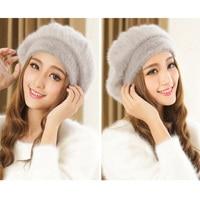 Hot Sale Women Beret Hats Lady Rabbit Fur Fashion Berets Hats Women S Berets New Arrival