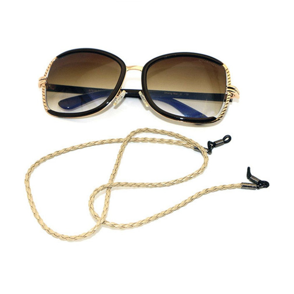 Fashion Leather String Rope Adjustable End Glasses Neck Strap Exquisite Eyeglass Cord Universal Eyeglass Accessories Red