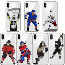 Soft Silicon Phone Cases Cover Cartoon Sport Ice Hockey Capinha Coque for IPhone 5 5S SE 6 6S 7 8 Plus X